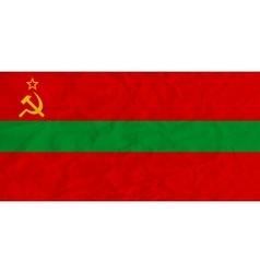 Transnistria paper flag vector image