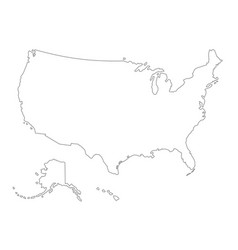 Usa outlined map vector