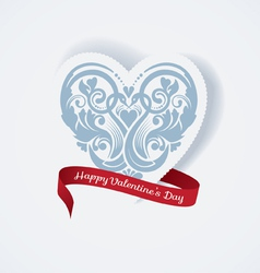 Valentines day love heart vector image vector image