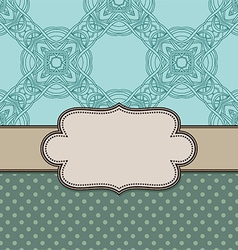 Vintage abstract flower frame with text vector