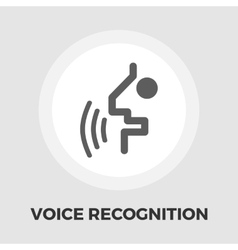 Voice recognition icon flat vector