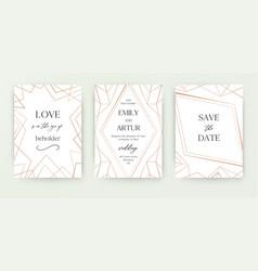 wedding invite invitation save date card vector image