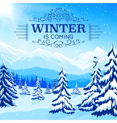 Winter Landscape Poster vector