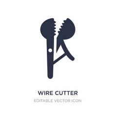 Wire cutter icon on white background simple vector