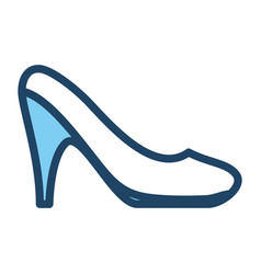 woman heel footwear vector image