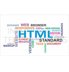 word cloud html vector image