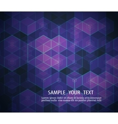 A geometric design of hexagons Abstract background vector image