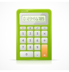 Green Calculator vector image vector image