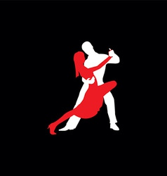 Latin dancers silhouettes vector image