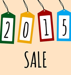 Sale Card 2015 on Price Tags vector image