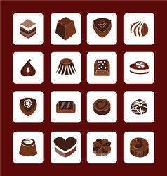 set icons of Chocolate Icons - vector image vector image