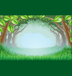 beautiful woodland scene vector image