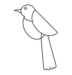 bird dove fauna fly icon thin line vector image vector image