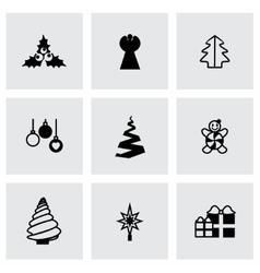 Cristmas trees icon set vector image