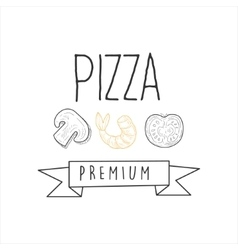 Mushroom Shrimp And Tomato Premium Quality vector image vector image