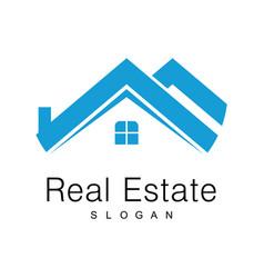 real estate logo vector image vector image