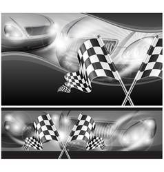 chequered flag auto background 10 v vector image