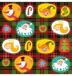 Christmas tartan plaid pattern background vector image vector image