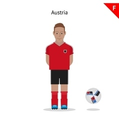 Football kit Austria vector image vector image