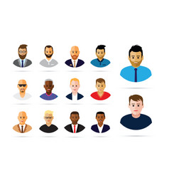 group of men profiles vector image