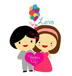 happy valentines couple sweet love vector image