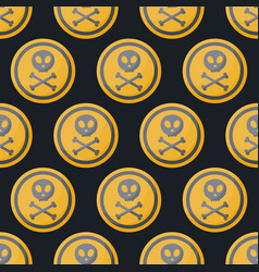 Poison sign flat seamless pattern vector
