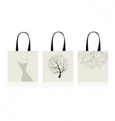 shopping bags design vector image vector image