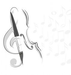 violin and key lines vector image vector image