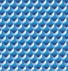 3d scallop seamless pattern vector image