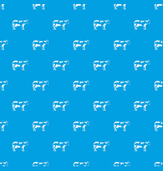 cow pattern seamless blue vector image