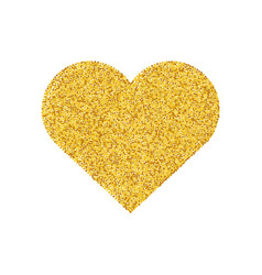 gold glitter heart shape isolated golden love vector image vector image