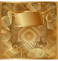 gold vintage background frame vector image vector image