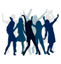 silhouette people dance vector image vector image
