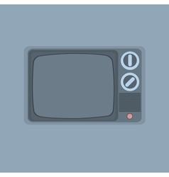 vintage TV minimalism style vector image