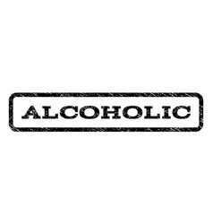 alcoholic watermark stamp vector image