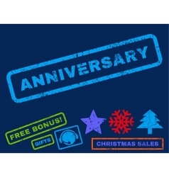 Anniversary Rubber Stamp vector