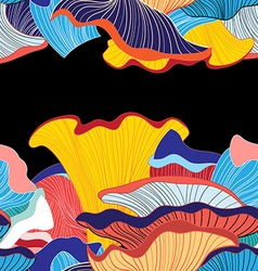 Background mushrooms vector