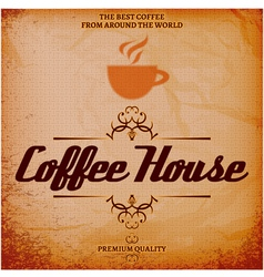 Background with texture for coffee house vector