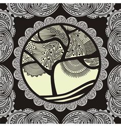Beautiful pattern tree vector image