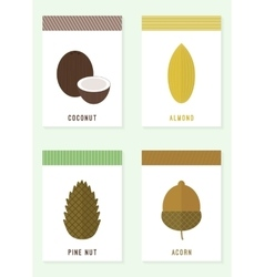Cards with nuts vector image