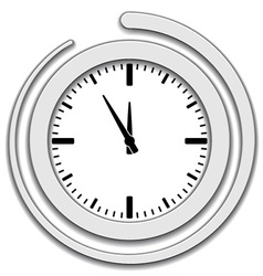 Clock face icon vector