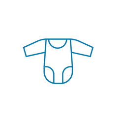 clothes for babies linear icon concept clothes vector image