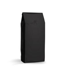 coffee bag mock up black-half side view vector image