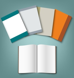 Collection of colorful books template vector