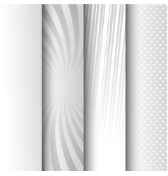 comic vertical monochrome banners vector image