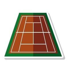 court tennis sport equipment icon vector image