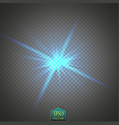 creative concept set of glow light effect stars vector image