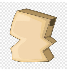 Crumpled empty cardboard box icon cartoon style vector