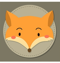 Cute Fox Head Cartoon vector