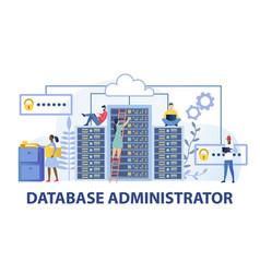 Data base administrator computing concept vector